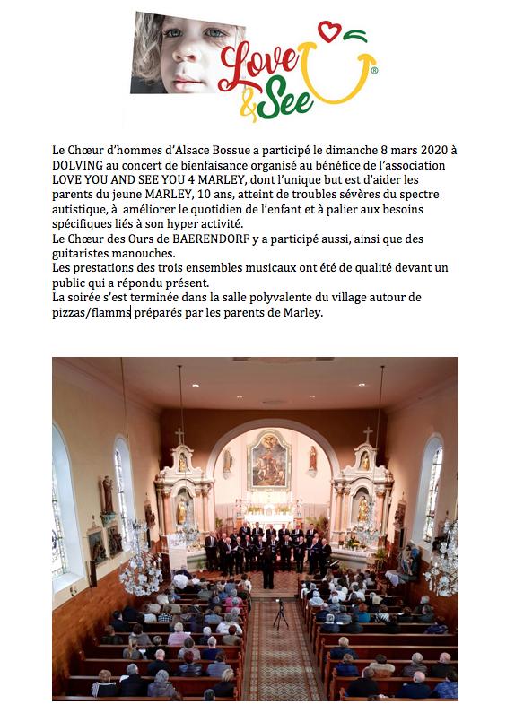 Concert de bienfaisance de DOLVING du 8 mars 2020 1